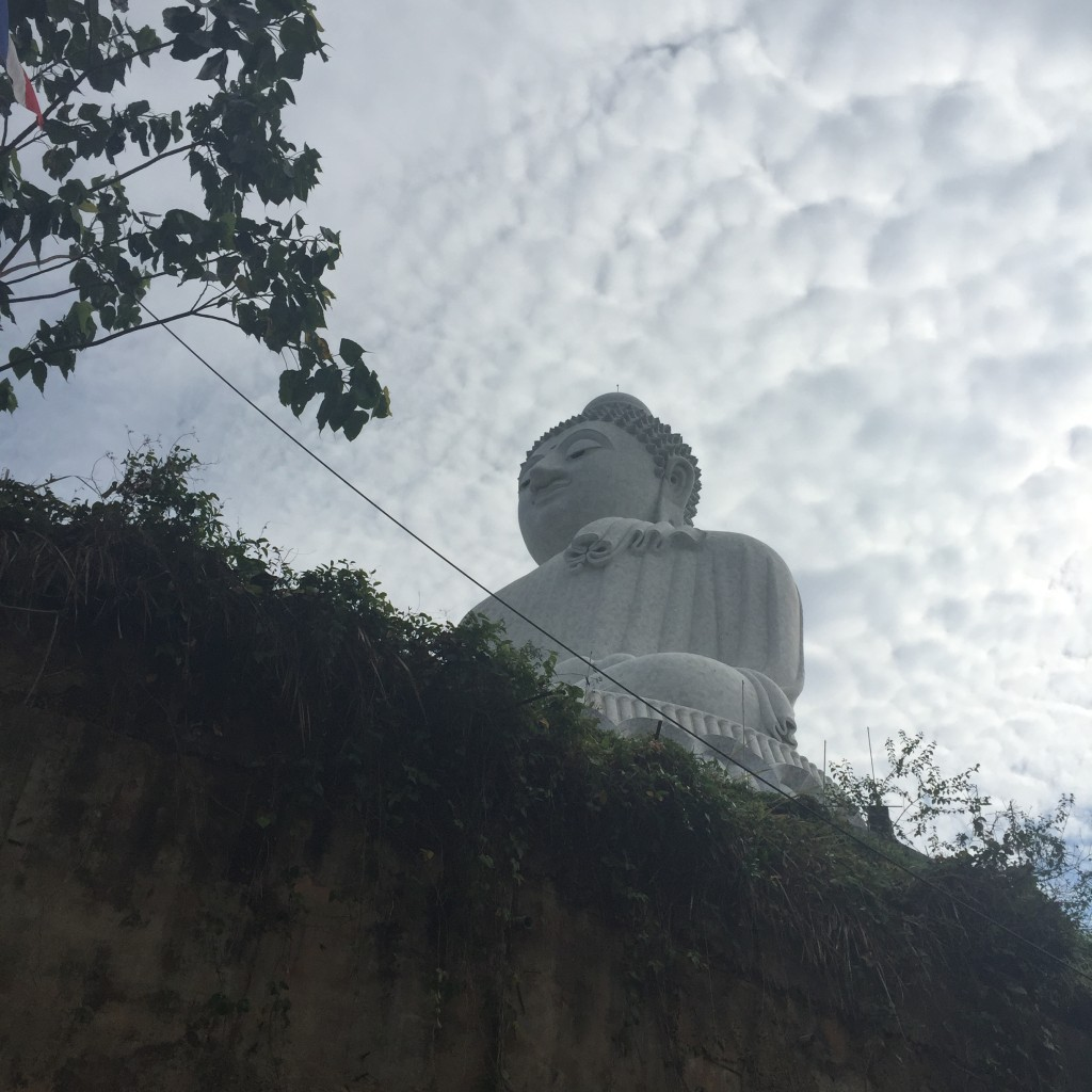 As we drove up, this is the Buddha we saw from below.