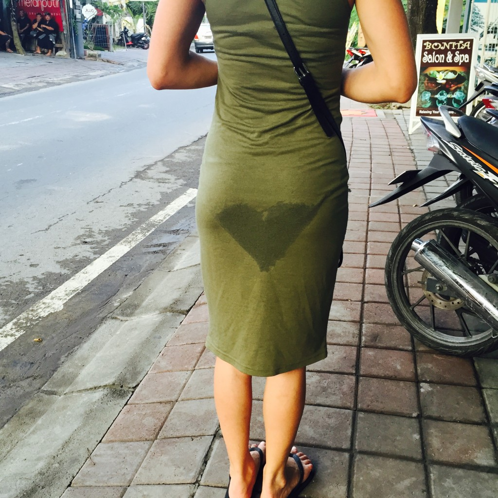 Love has no boundaries on the streets of Seminyak.