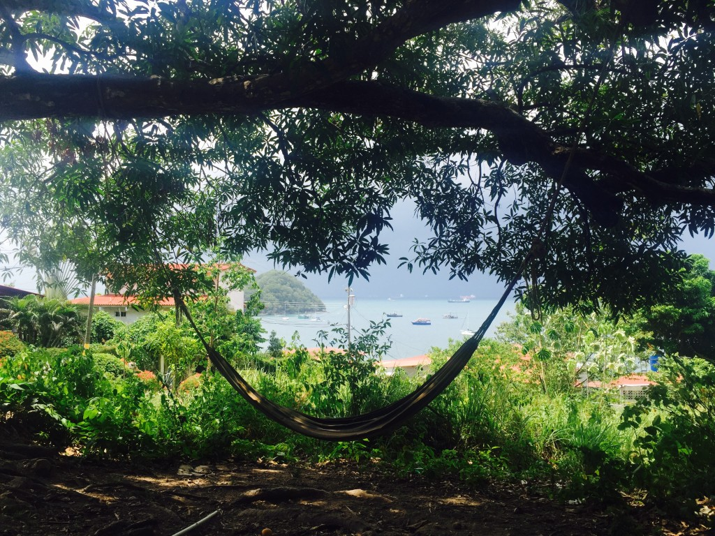 The perfect spot to relax on Taboga, hammock with a view!