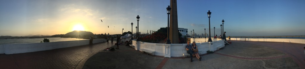Panorama from the Esteban Huertas Walkway