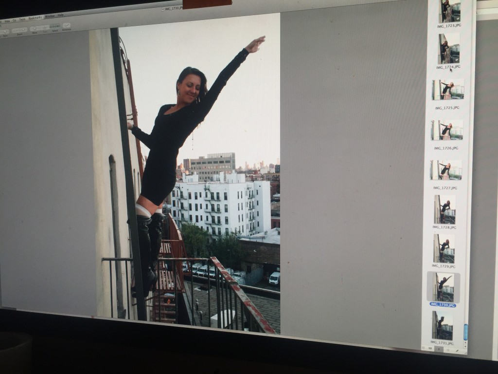 Fire escape fun photoshoot in Harlem...