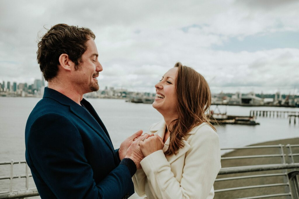 Engagement shoot prior to Pandemic, Seattle Washington. Photography by RAW by Jane