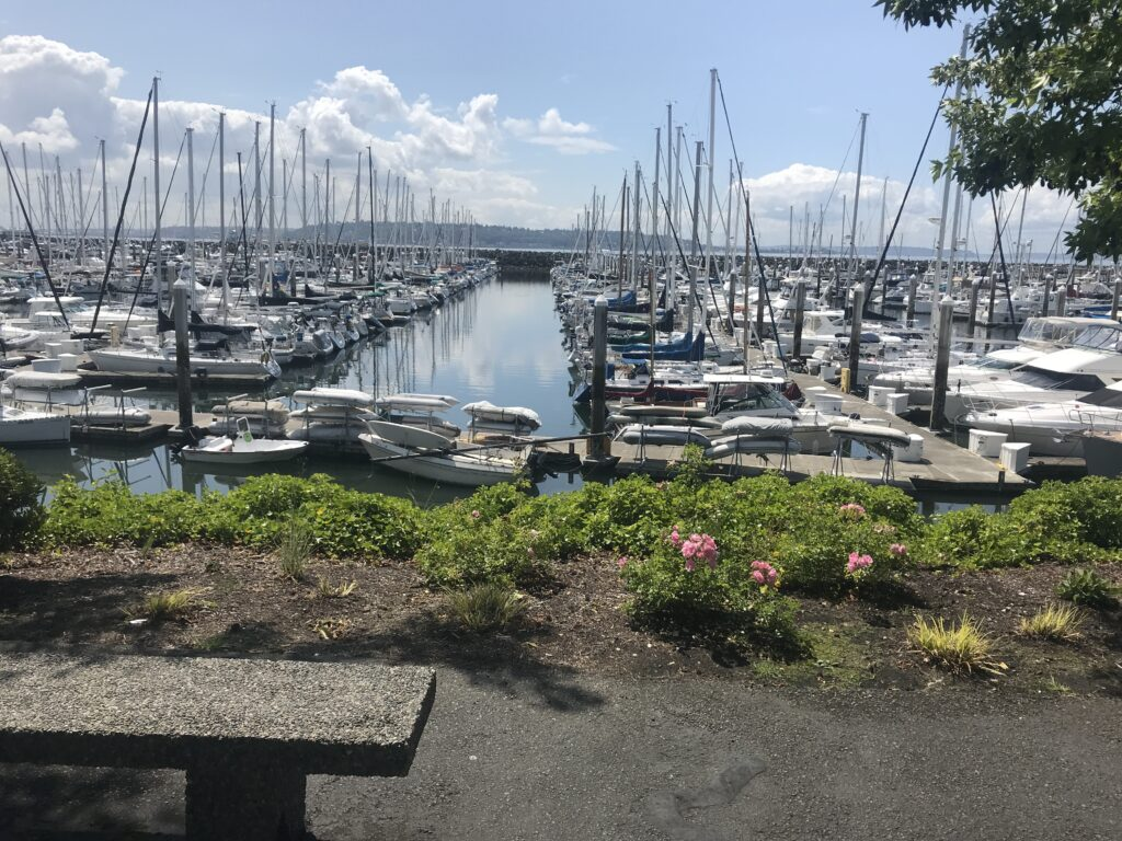 Original wedding venue in Seattle by Marina, picked before Covid-19 would cancel many weddings.